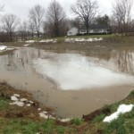 View of pool behind lower berm.  Great use of flood plain.  These conditions lasted about 1 day.